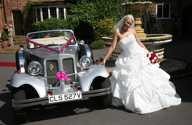 Beauford Tourer Silver Wedding Car