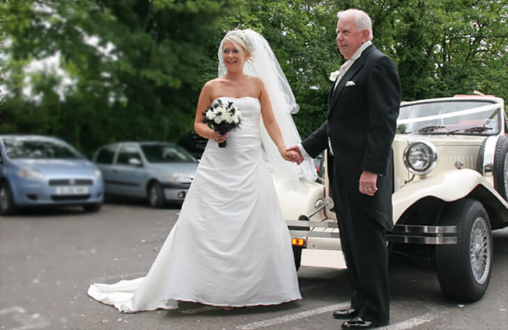 Beauford Tourer White Wedding Car