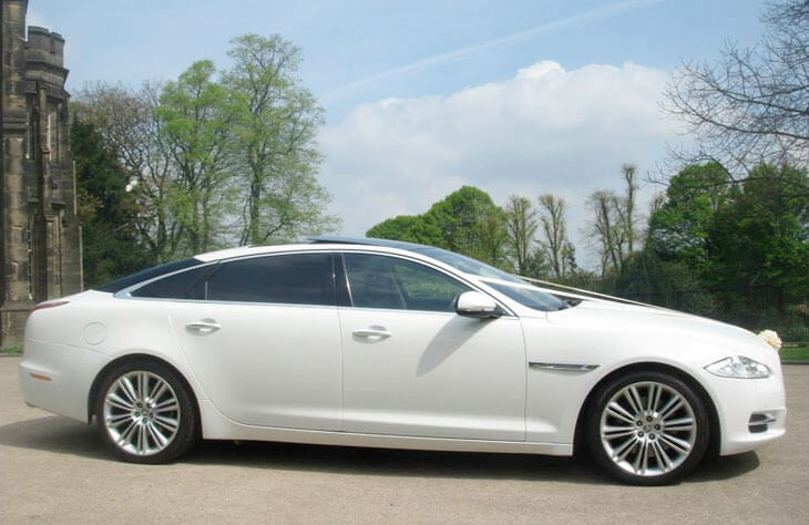 Jaguar XJ White Wedding Car